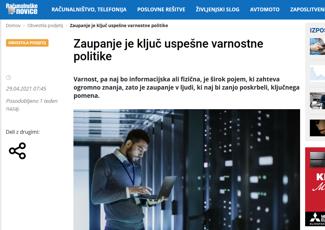 Računalniške novice - Zaupanje je ključ uspešne varnostne politike
